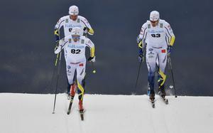Sprinttävling på Idre Fjäll med Gustav Eriksson och Teodor Peterson.