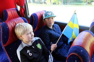 Alex Grönlund och Melker Ljungström är tvärsäkra. Sverige vinner i kväll.