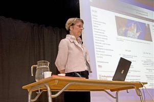 Görel Sterner pratade om sambandet mellan lässvårigheter och problem med matematikinlärning. Hon påpekade bland annat att språket är viktigt även i matematiken.