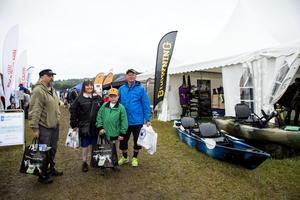 Björn Svensson, Maria Wilcke, William Wilcke och Jan-Åke Nilsson åkte från Bredbyn för att besöka mässan.