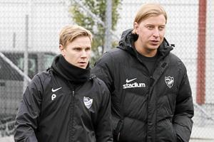 Englund var assisterande tränare bredvid Pontus Melander innan han tog över ansvaret fullt ut. Bild: Petter Öhrling