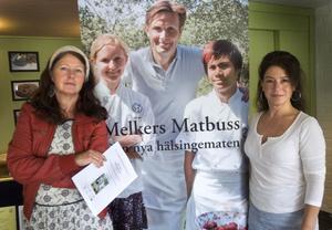 Nina Östman och Annica Tengvall, initiativtagare till Melkers Matbuss, är förväntansfulla inför det stora matseminarium som hålls i Bollnäs i slutet av september.
