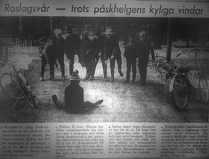 Roslagsvår - trots påskhelgens kyliga vindar. NT 31 mars 1964.