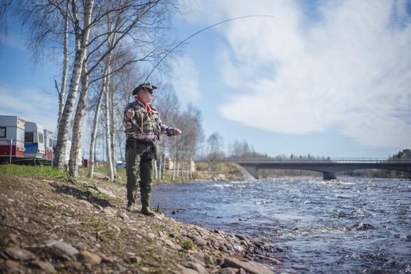 Campingen i Lillhärdal säljer fiskekort och metmask. Läget vi Härjeåns strand erbjuder bra fiske.
