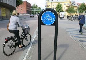 Det är allra bäst med en särskild bana för cyklister och en annan för gående, tycker Sven-Gunnar Wallin.