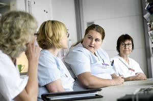 Åsa Andersson, Marei Aronsson, Johanna Grönqvist och Kerstin Andersson jobbar på geriatriska kliniken på USÖ.