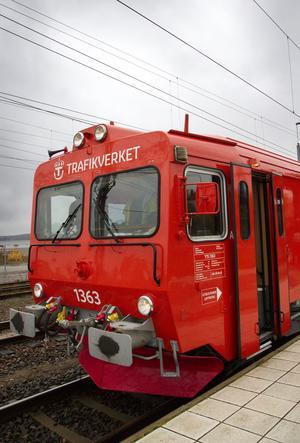 Konferenståget stannade till vid stationerna mellan Gävle och Sundsvall.