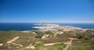 Den spanska exklaven Ceuta, sedd från den marockanska sidan.