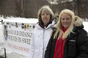 Kristina Hallin och Marlén Fuglsang är missnöjda med kommunens agerande när det gäller att tilldelas en plats att manifestera på.