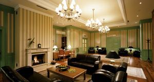 Receptionen på hotellet som valts till världens bästa.