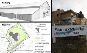 Idrottshall i Norberg, förskola i Fagersta och pensionsavsättningar i Skinnskatteberg.