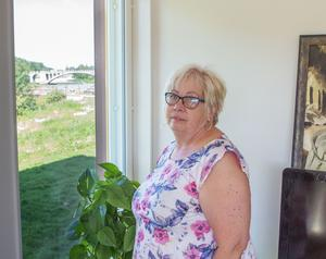Utsikten från Anethe Lekströms bostadsrätt. Vartenda fönster blir till en tavla.