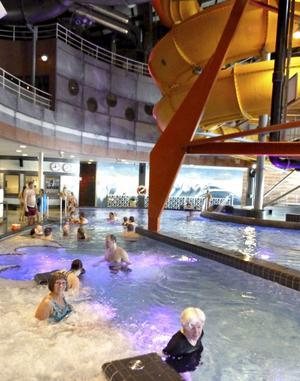 Experium i Lindvallen. Upplevelsebad för hela familjen.