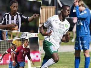 Ronaldinho och Alexis Sanchez – två spelare Moses Duckrell mött under sin karriär.