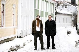 Tomas Frejarö och Göran Hådén, miljöpartister från Härnösand, kandiderar till Europaparlamentet.