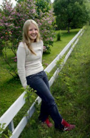 En riktig hjältinna. Susanna Westberg, 16 år, lyckades få upp sin avsvimmade klasskamrat ur det djupa vattnet.