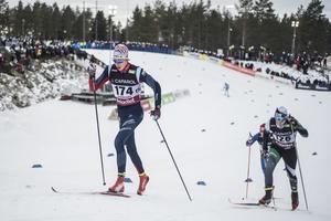 Konrad Myhr blev bästa härjedaling i herrarnas 15 kilometer klassisk stil under SM i Söderhamn.