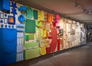 Del av huvudutställningen på Ikeas museum.