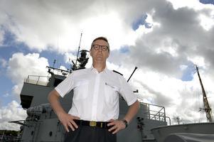 Gunnar Karlson, chef för Militära underrättelse- och säkerhetstjänsten (Must) ombord på örlogsfartyget HMS Carlskrona