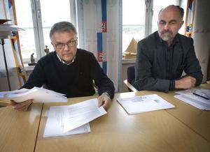 Hudiksvalls kommunalråd Sven-Åke Thoresen (S) och oppositionsrådet Stefan Stefan Bäckström (C) är kritiska till landstingets strategiska plan.