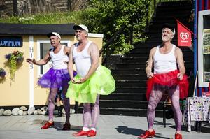 Lars Fille Strömqvist, Göran Ericsson och Bengt Larsson söker in som artister till cirkusen som kommer till stan.
