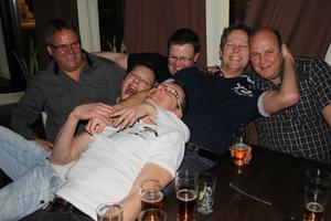Jarmo Niemi, Alen Taslidza, Stefan Dovås, Magnus Schilström, Robert Nordström och Per Eriksson kom för att lyssna på bandet R.I.F.