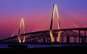 Cooper river bridge är bara en av många broar som Peo Halvarsson har varit med och byggt.