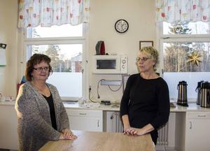 Kerstin Nabb och Madeleine Jonsson tror att ett serveringstillstånd kan bli det lyft Ljusne Folkan behöver.