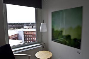 Rum med utsikt på nyombyggda kirurgavdelning 111 A.
