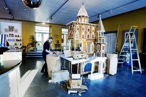 Margareta Persson smider redan planer inför nästa juls bygge som förhoppningsvis ska bli ännu bättre än det här.