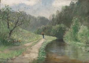 Ljusterån. Det särpräglade landskapet har lockat reseskildrare, poeter och konstnärer. Redan 1892 tolkade Olof Hermelin Säters dal åt det impressionistiska hållet.