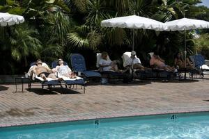 Det ljuva livet? Stephen Dorff och Elle Fanning på hotell i Sofia Coppolas
