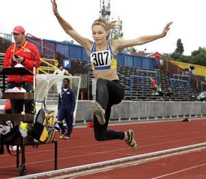 Segern i lördagens längdhopp innebar femte guldet för Emma Stenlöf.