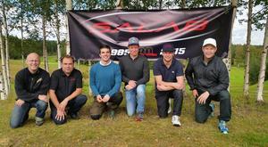 De tre vinnande lagen. Fr. v. Fagerström & Lindholm, Olsson & Olofsson och Edén & Lindblom. Foto: Svegs GK