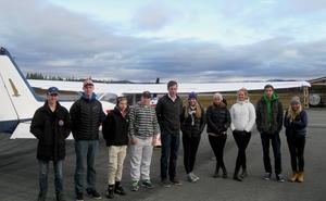 Nio ungdomar deltog i en utbildningsdag på Hedlanda. Arrangör var Hedlanda flygförening och FFK.