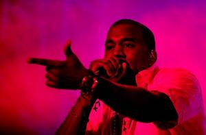 Kanye West under ett framträdande på Way Out West. ARKIVBILD