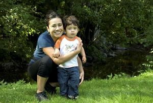 Marcelle Soneryd med tvååriga sonen Nicolas.