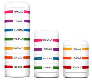 Den cylinderformade dosetten går att dela upp i flera delar.