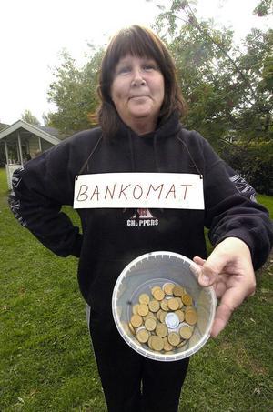 Bankomaten hette Katarina Nilsson och hos henne kunde man hämta pengar i flera omgångar om man behövde.
