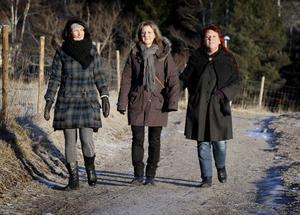 Yvonne Wennergren, Mona Swanström och Ann Jonsson är en promenadglad trio i Smedjebacken. De är ute och går flera gånger i veckan för att få frisk luft och nyttig motion.