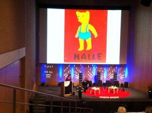 Anna-Clara Tidholm pratade om barnens första möten med boken.