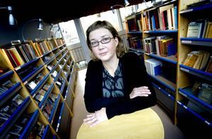 Marika Andersson, bibliotekschef som röt ifrån i debatten.
