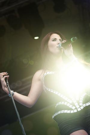 Molly Sandén sjöng låtar från sin senaste skiva.