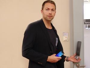 Verksamhetsutvecklare David Wiklund, som bland annat satsat på nyckelfria lås och  digitalisering inom välfärden. Foto: Erik Åmell