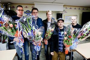 Per Hellander, Jonas Hellander, Pertti Nykänen, Johan Halvarsson och Stefan Gustavsson blev blomsterhyllade i motorsällskapets stuga. Den sjätte medaljören, Robin Friberg, hade inte möjlighet att närvara men får en ny chans i samband med Ludvikafesten 2013.