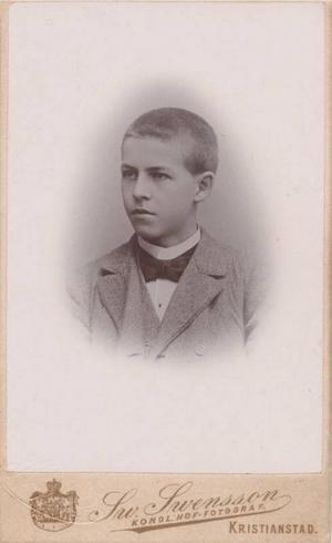 Den unge mördaren Theodor Sallrot – det enda kända fotot som finns.