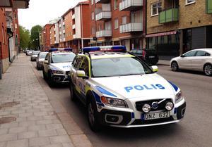Polisinsatsen genomfördes på fredagsförmiddagen