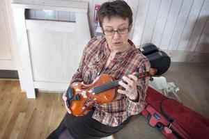 Marita Sandberg tycker att fiolen är ett utmärkt instrument i undervisningen.