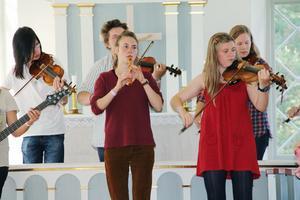 Gävleborgs ungdoms folkband (GUF) gav en uppskattad konsert i kapellet.