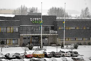 Sorg. Vid Green Cargo i Hallsberg var flaggorna under onsdagen på halv stång.